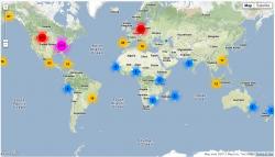 Mapped locations of fdp_de's followers