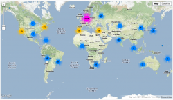 Mapped locations of spdde's followers